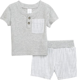 Nordstrom Pocket Henley Shirt & Shorts Set