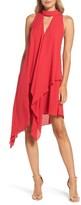 Maggy London Petite Women's Asymmetric Hem Shift Dress