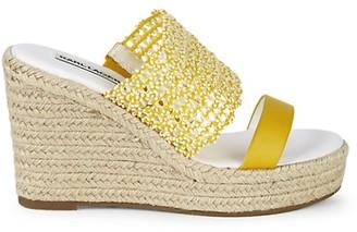 Karl Lagerfeld Paris Celie Cutout Leather Espadrille Sandals