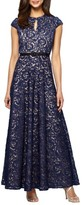 Alex Evenings Women's Embroidered Gown