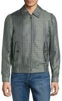 Brioni Checkered Long-Sleeve Jacket