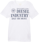 Diesel Bright White Tee - Boys