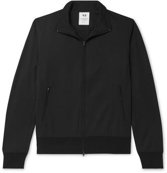 Y-3 Wool-Blend Twill Track Jacket - Men - Black