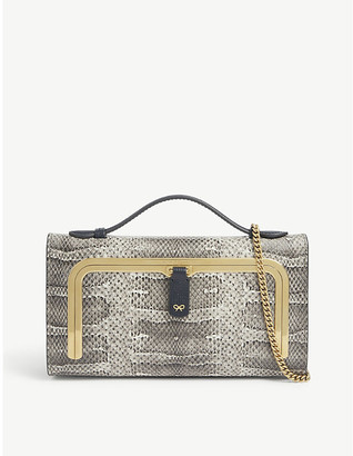 Anya Hindmarch Snake-print mini postbox bag