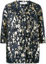 Gianluca Capannolo metallic jacquard jacket - women - Cotton/Polyester/Nylon/Acetate - 42