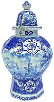 One Kings Lane Vintage 18th-C. Delft Harbor Scene Jar