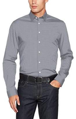 Seidensticker Men's Slim Fit Dress Shirt Slim Non-Iron Stretch, Blue (Dark Gray 36), (Manufacturer size: XL)