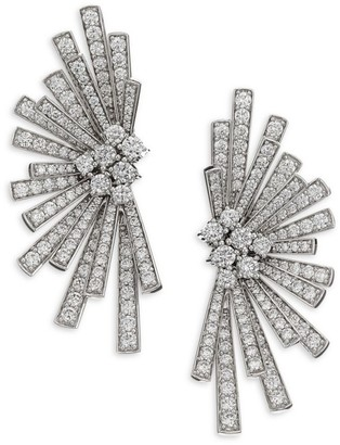 Hueb Labyrinth Diamond & 18K White Gold Stud Earrings