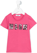 MSGM logo patch T-shirt - kids - Cotton - 4 yrs