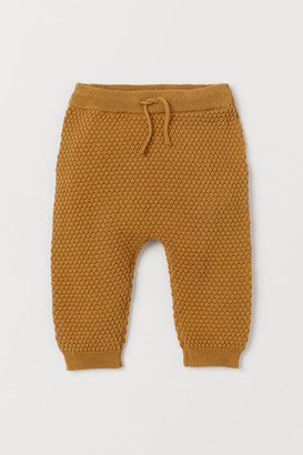 H&M Textured-knit trousers