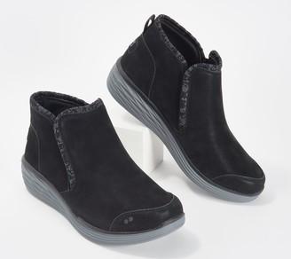 Ryka Knit Trim Wedge Ankle Boots - Namaste Knit