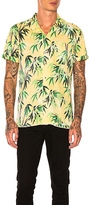 Scotch & Soda Short Sleeve Palm Tree Shirt in Yellow. - size L (also in )