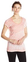 Calvin Klein Jeans Women's Short Sleeve V-Neck Printed Top