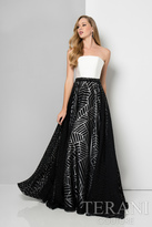 Terani Evening - Strapless Printed A-line Gown 1712E3287