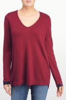 NYDJ Mixed Media V Neck Sweater