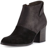 Coclico Oki Embossed-Leather Bootie, Black