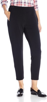 BCBGeneration Women's Flat Front Faux Fly Pant