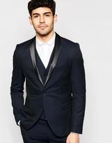 Selected Stretch Skinny Luxe Polka Dot Tuxedo Jacket