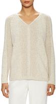 Lafayette 148 New York Cotton Panelled Stitch Sweater