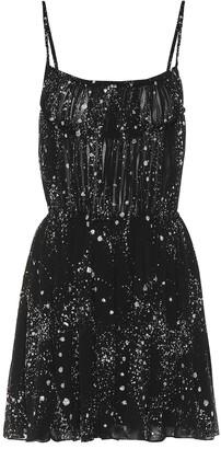 Saint Laurent Embellished minidress