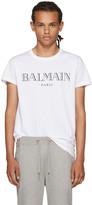 Balmain White Logo T-Shirt