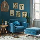 Graham and Green New York Armchair And Footstool