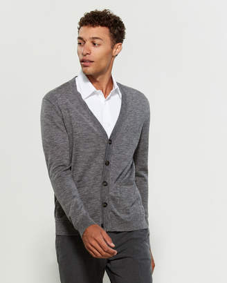 Quincy Long Sleeve V-Neck Wool Cardigan