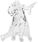 9.5-Inch Acrylic Santa with List Figurine