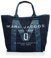 Marc Jacobs Logo Cotton Denim Tote