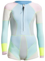Cynthia Rowley Front Zip Colorblock Wetsuit