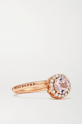 Selim Mouzannar Beirut Basic 18-karat Rose Gold, Morganite And Diamond Ring - 6