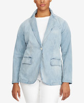 Lauren Ralph Lauren Plus Size Denim Blazer