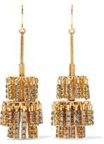 Elizabeth Cole Jayne Gold-Tone Crystal Earrings