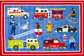 Fun Rugs Olive Kids Hero Blue Area Rug Rug