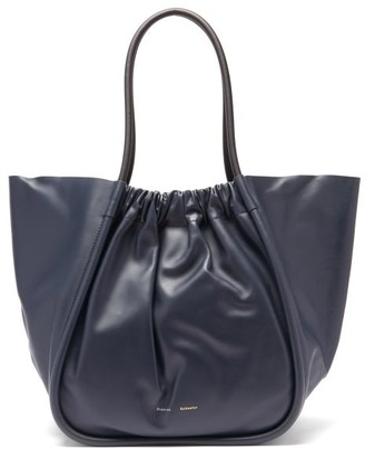 Proenza Schouler Ruched Xl Leather Tote Bag - Navy
