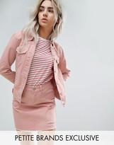 Urban Bliss Petite Distressed Denim Jacket In Pink