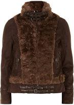 Izabel London Brown faux fur suede jacket