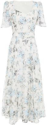 Goat Julip Floral-print Cotton And Silk-blend Organza Midi Dress