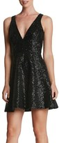 Dress the Population Women's 'Carrie' Sequin Fit & Flare Minidress