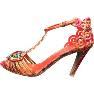 Sergio Rossi \N Red Leather Sandals