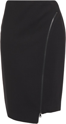 Bailey 44 Josie Asymmetric Zip-detailed Ponte Pencil Skirt