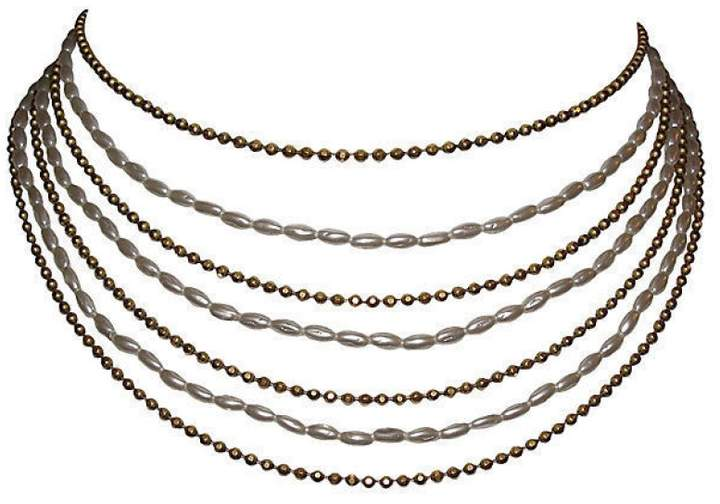 Chanel 18K Gold Plated Multi-Strand Bib Necklace