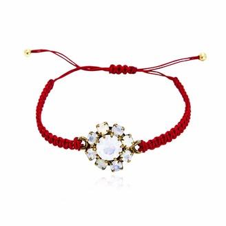 Rosaspina Firenze Florentine Garden red macrame bracelet