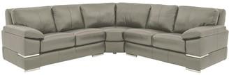 Primo Italian Leather Corner Group Sofa
