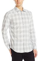 Calvin Klein Jeans Men's Ombre Plaid Shirt