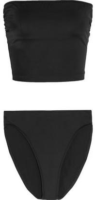 Norma Kamali Bishop Ruched Bandeau Bikini