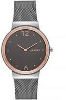 Skagen Freja Two-Tone Steel Mesh Bracelet Watch