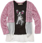 Speechless Long Sleeve Layered Top - Preschool