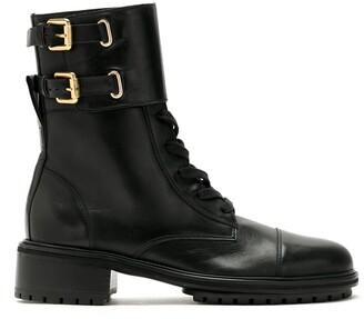 Sarah Chofakian Sarah leather combat boots