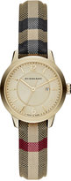 Burberry Women's Swiss Honey Check Fabric Strap Watch 32mm BU10104